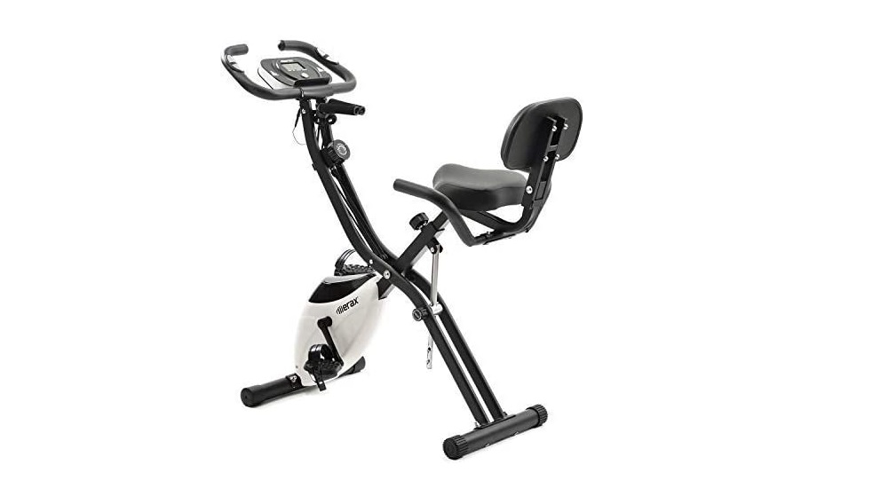MERAX FITNESS BIKE, EXERCISE BIKE WITH TRAINING COMPUTER AND EXPANDER CYCLING BIKE