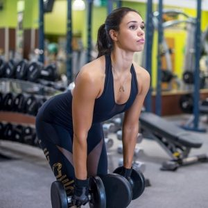 dumbell deadlift