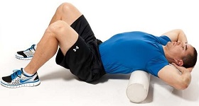 Thoracic spine foam roller
