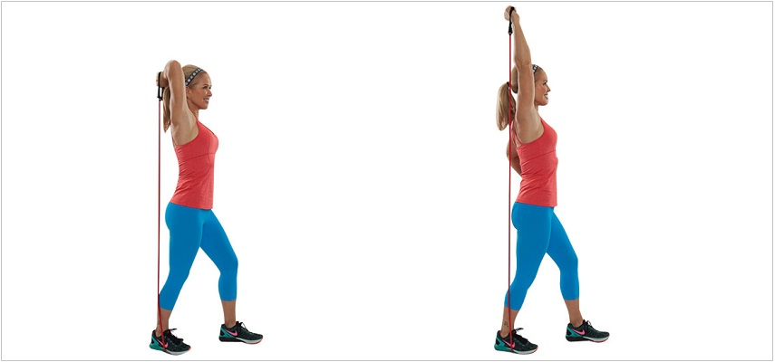 Overhead Tricep Extension Resistance Band