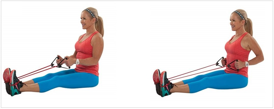 Seated Row resistance bands