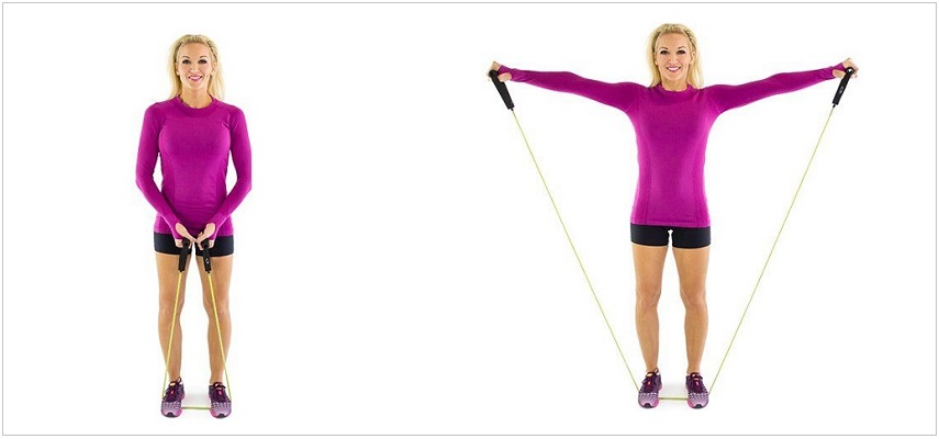 Side Lateral Raises resistance band