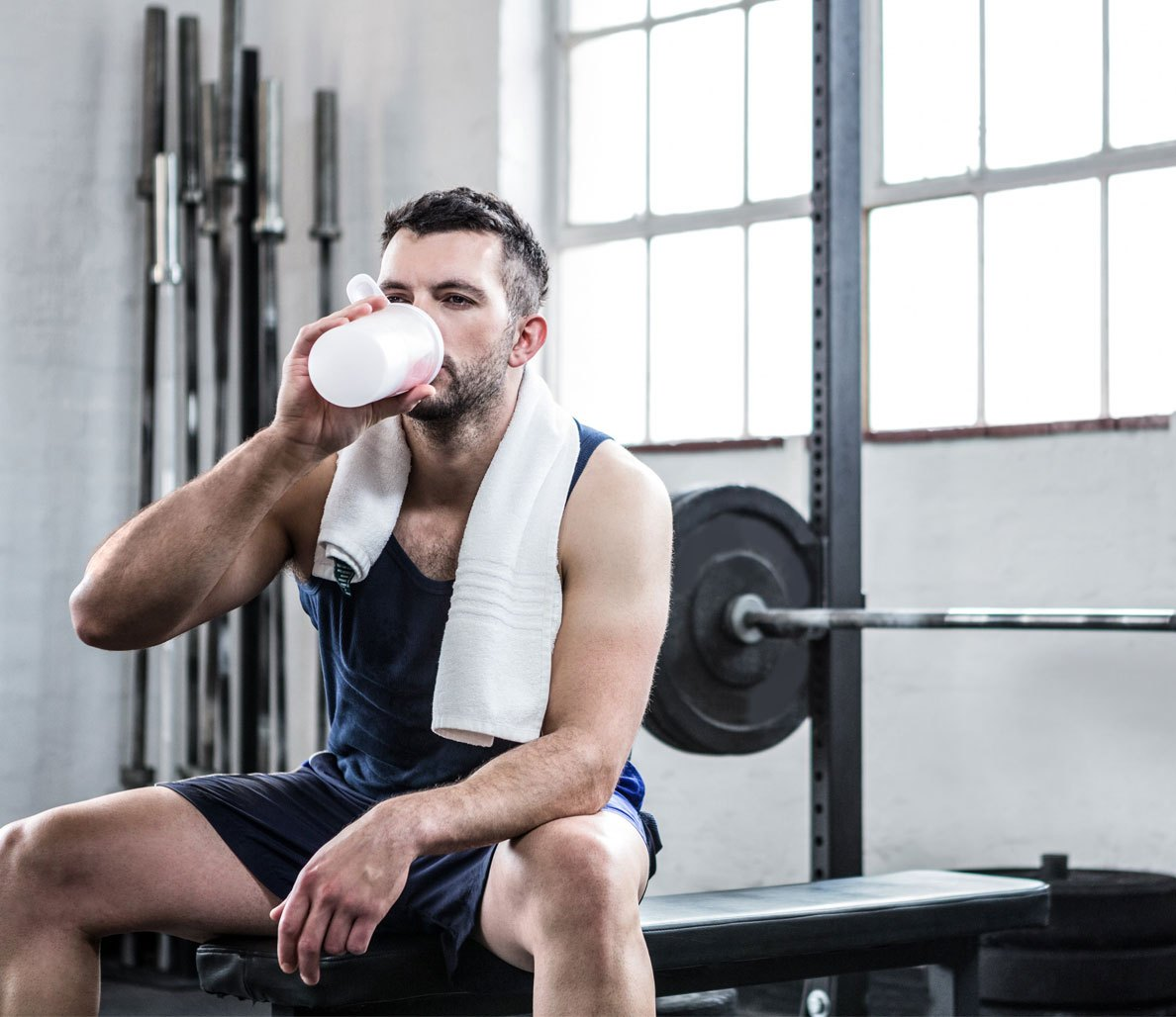 Protein shake muscle gain study