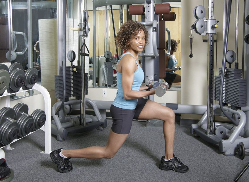 Bicep curl + Lunge